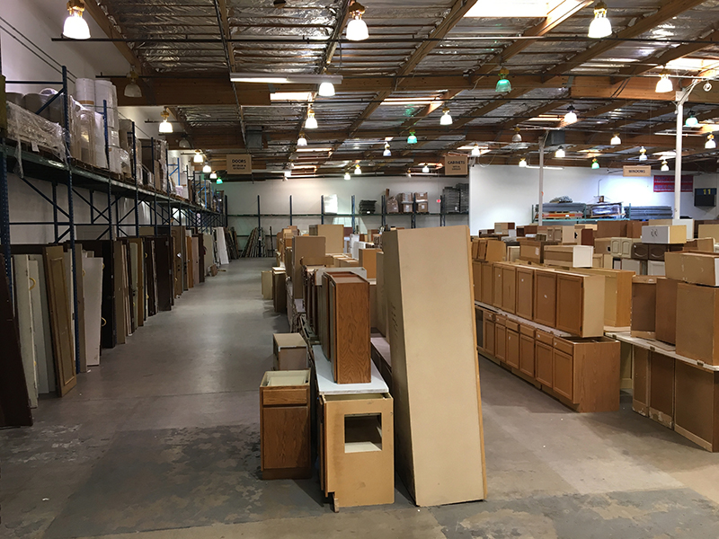 The interior of our Mesa warehouse